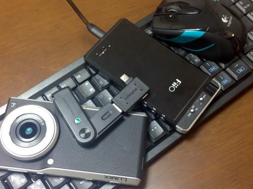 Lumix CM1とマウスとキーボード