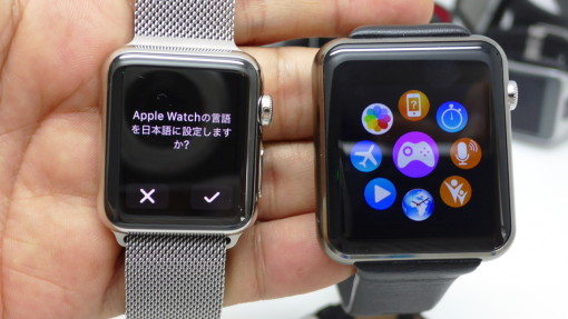 左がApple Wach 38mm、右はなんちゃって版