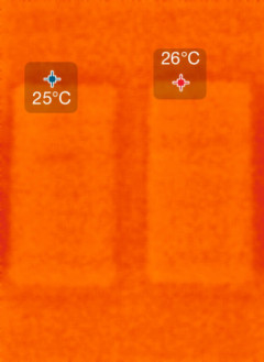安静状態での温度