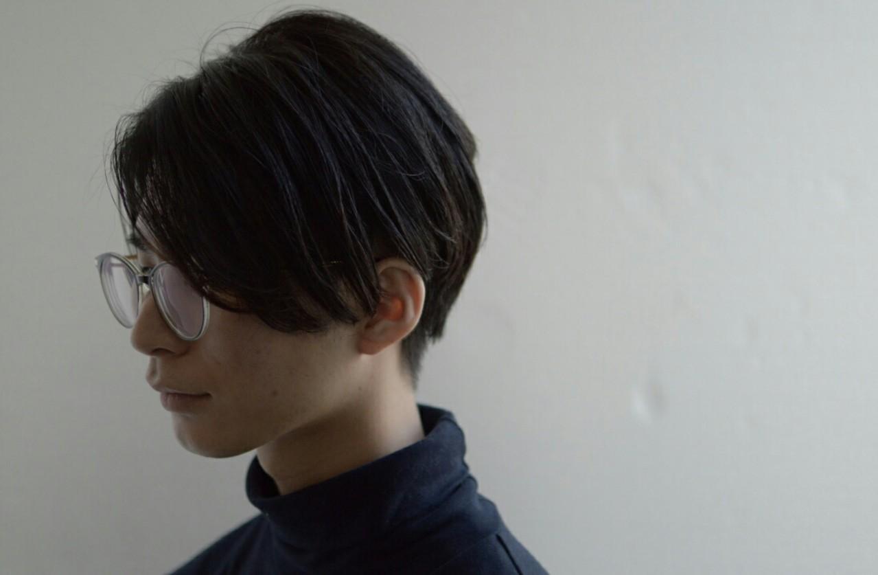 ショートヘア メンズ ストレート