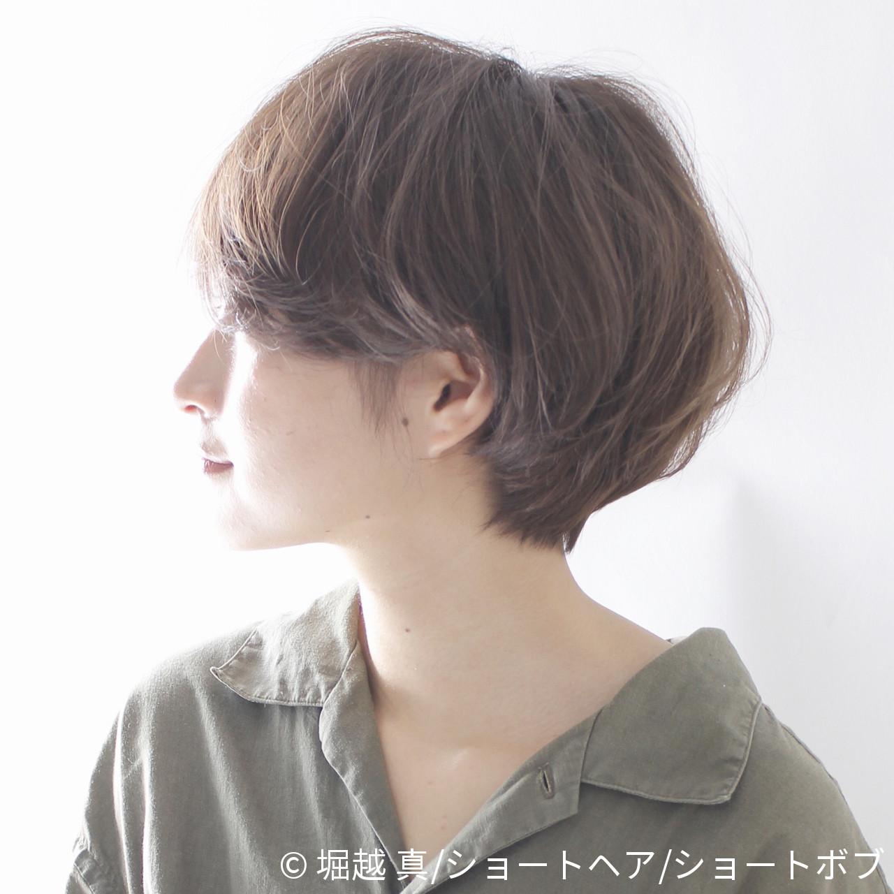 髪型 ボブ ショート