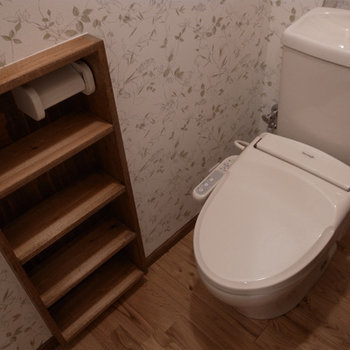 トイレに棚があるのもうれしい