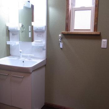 独立洗面台。脱衣所も広かったです。