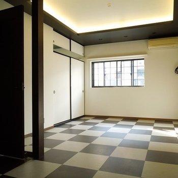 2階のお部屋はインテリアが個性的