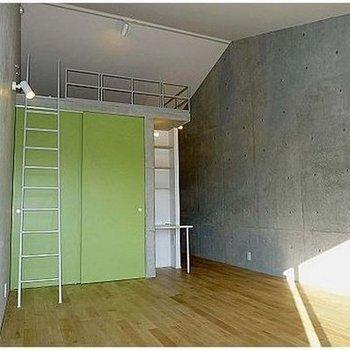 グリーンが映えています。※写真は302号室