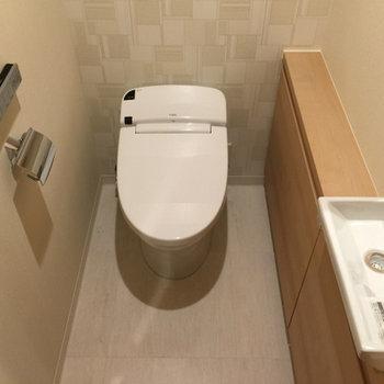 手洗い場もついたウォシュレットトイレ