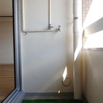 洗濯機置き場はこちらです。
