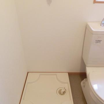 洗濯機置き場はここです