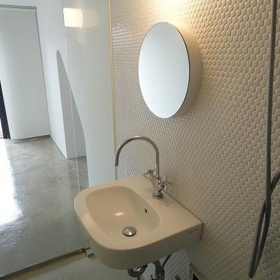 かわいいデザインの洗面台