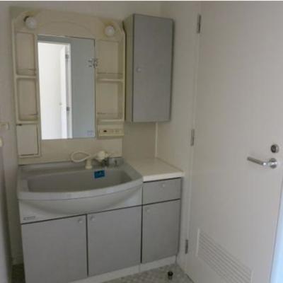 大きめの洗面台※写真は別部屋です。