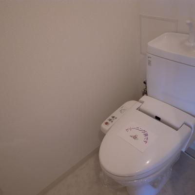 トイレも設備バッチリ※写真は別部屋です。