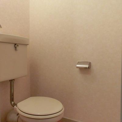 こちらもシンプルなトイレです