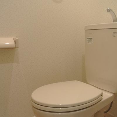 トイレもシンプルにね!