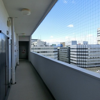 11階廊下の眺めはいいですね