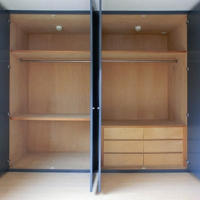大容量収納のクローゼット※写真は201号室