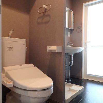 洗面台とトイレは一緒になっているアメリカンセパレートタイプ