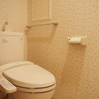 花柄のトイレいいですねえ