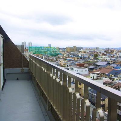 平べったい街の眺め