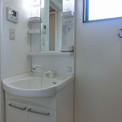 シャワーノズル付きの洗面台