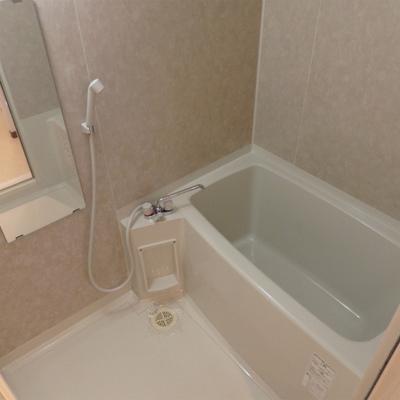 お風呂。広くはないですね。