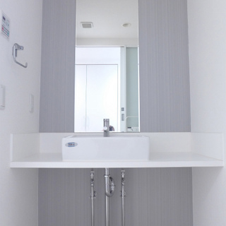 洗面台もシンプルお洒落♪