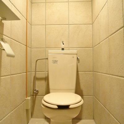 トイレもおもしろいデザインですね※写真は別部屋