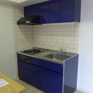 やっぱりこのブルーのキッチンがお気に入り♪