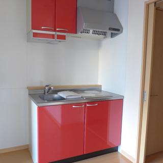 赤のキッチン、これが良いんです!