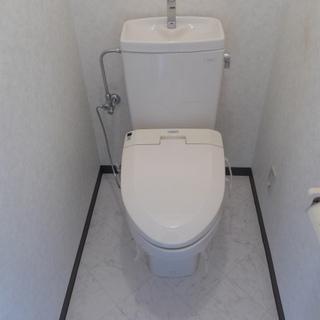 トイレもピカピカ、快適です!