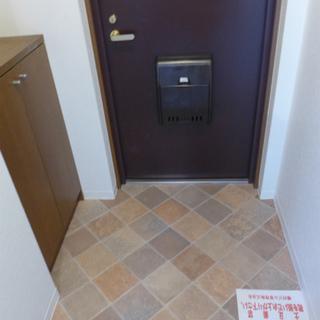 玄関には小さめシューズボックス!