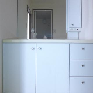 洗面台はゆとりのあるサイズで使い勝手good!