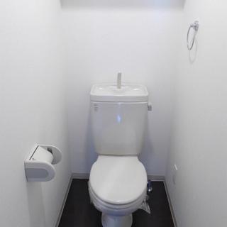 トイレはシンプル。ピカピカです。