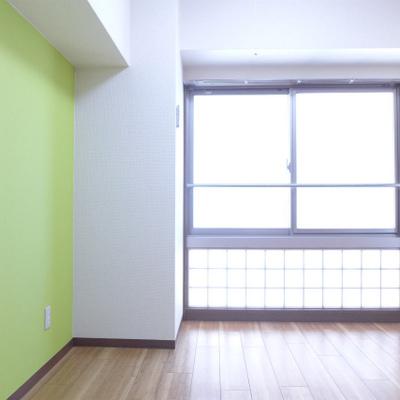 北向きのお部屋、優しい光が入ります。