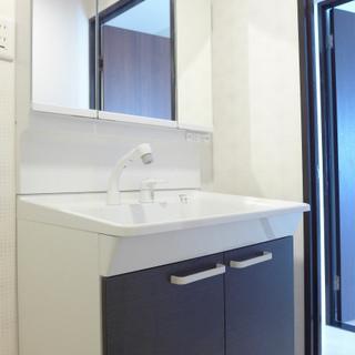 洗面台も大きめなので、使い勝手goodです。