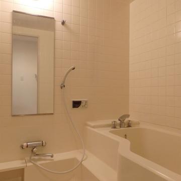 お風呂は既存ですがちょっと変形タイプで面白いです