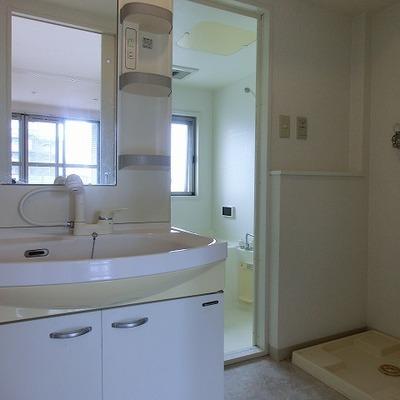 シャワーノズル付の洗面台※画像は12階