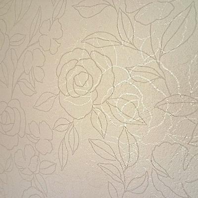 壁紙の柄はかわいい花柄