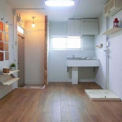 洗濯機置き場も室内に※画像は別部屋