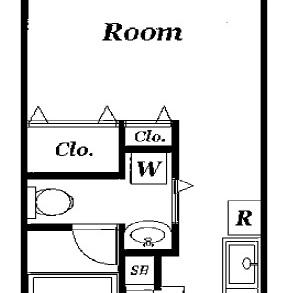 お一人向けのお部屋ですね