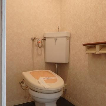 トイレは昔ながらですがウォシュレット付です