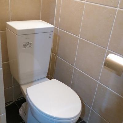 トイレ、すごくキレイ。