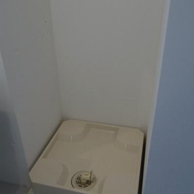 もちろん室内洗濯置場。※写真は別部屋