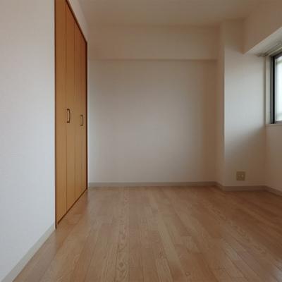 洋室。こちらも収納がガッツリあります。