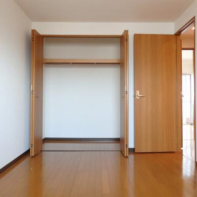 ハンガーラックだけでなく、棚も使えます。