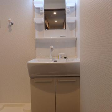 洗面台もバッチリ新設されています。