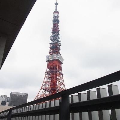 東京タワーに見とれて