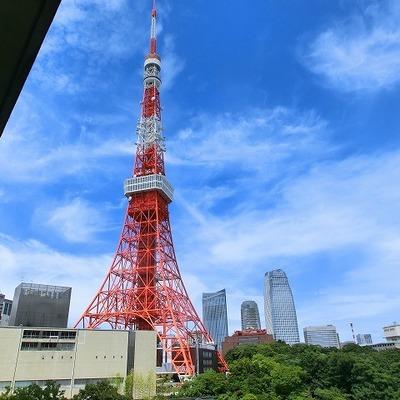 東京タワー、すぐそこ。