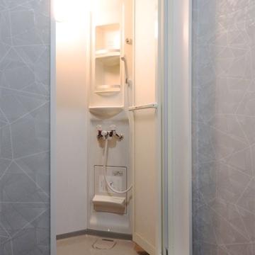 アメリカンスタイルのシャワールーム。