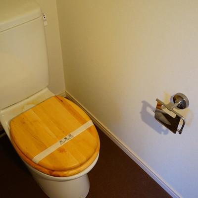トイレも木製便座に!