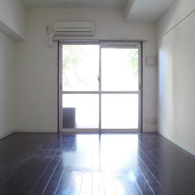 玄関からの眺め。東向きの窓は大きい!※写真は別部屋です。